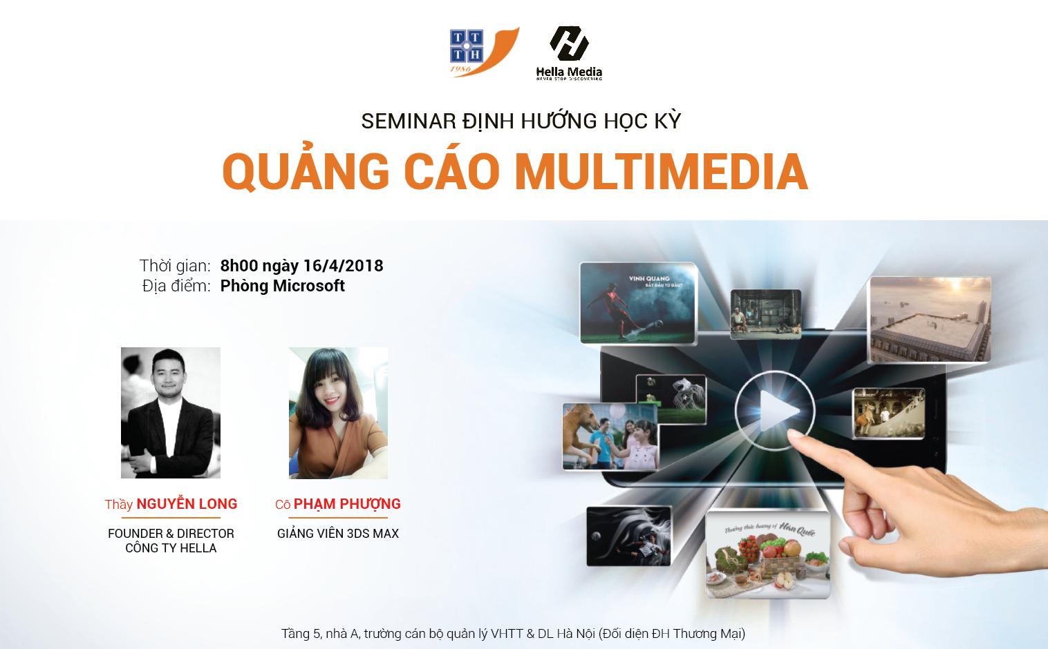 """Seminar """"Định hướng học kỳ Quảng cáo Multimedia"""""""