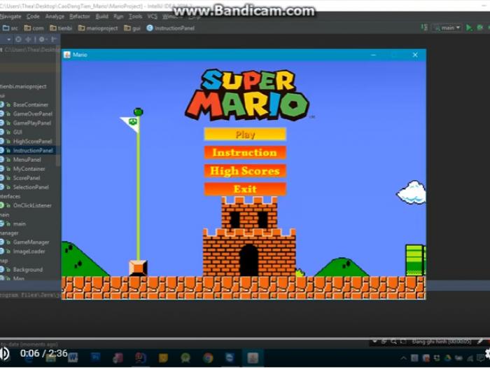 Video demo game Super Mario cua học viên T3H