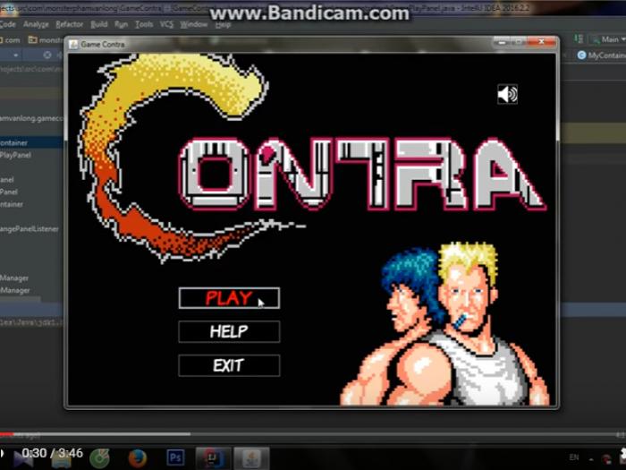 Video demo game contra Java của học viên T3H